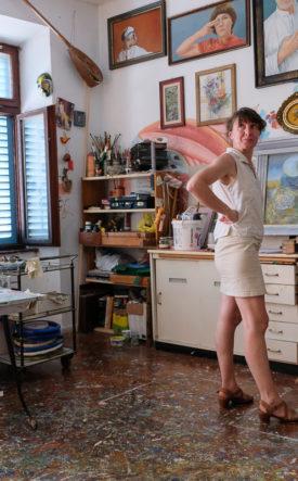 Dedè nel suo studio - foto Marco Ciccolella/NESSUNO[press]
