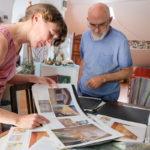Dedè e Majo ci illustrano i lavori passati - foto Marco Ciccolella/NESSUNO[press]