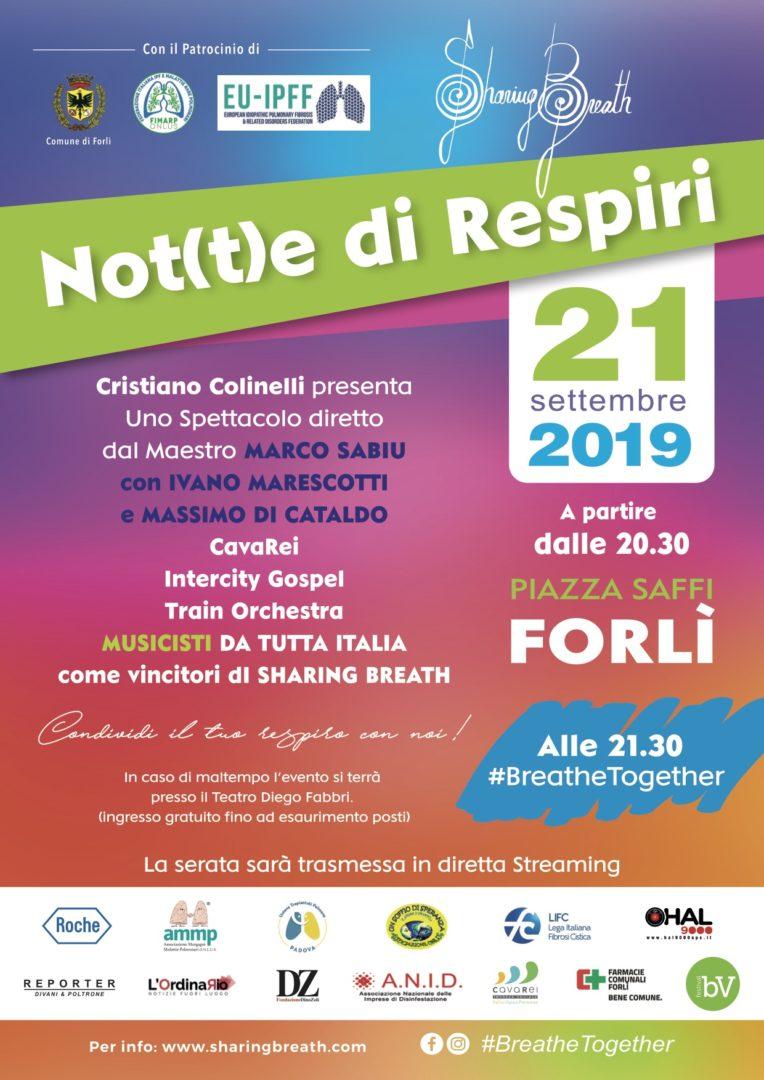 A Forlì la Not(t)e di Respiri, un evento condiviso per le malattie polmonari rare