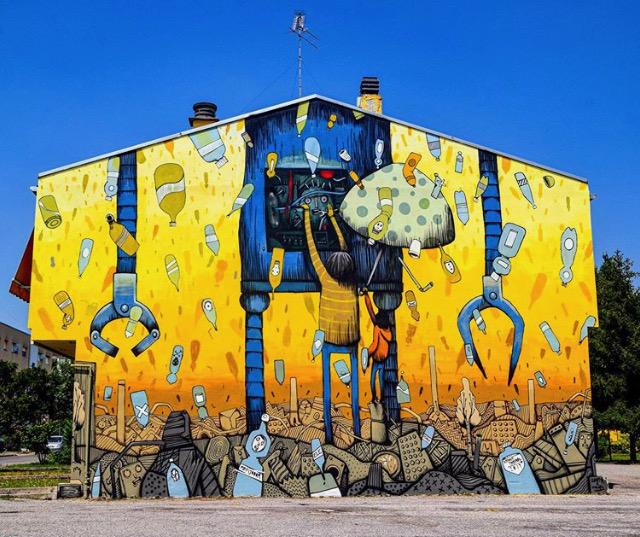 A Mantova, la street art conquista i muri del quartiere Lunetta e racconta storie di vita