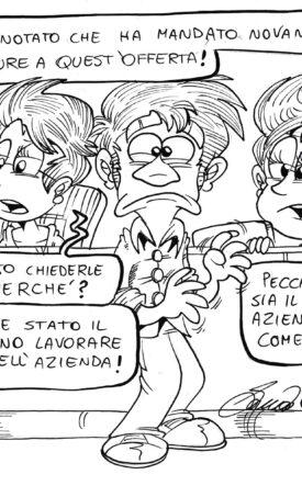 Vignetta di Daniele Saccani. Serie #Babele