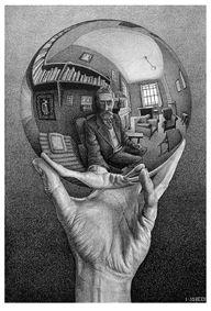 Genova_Maurits-Cornelis-Escher_Mano-con-sfera